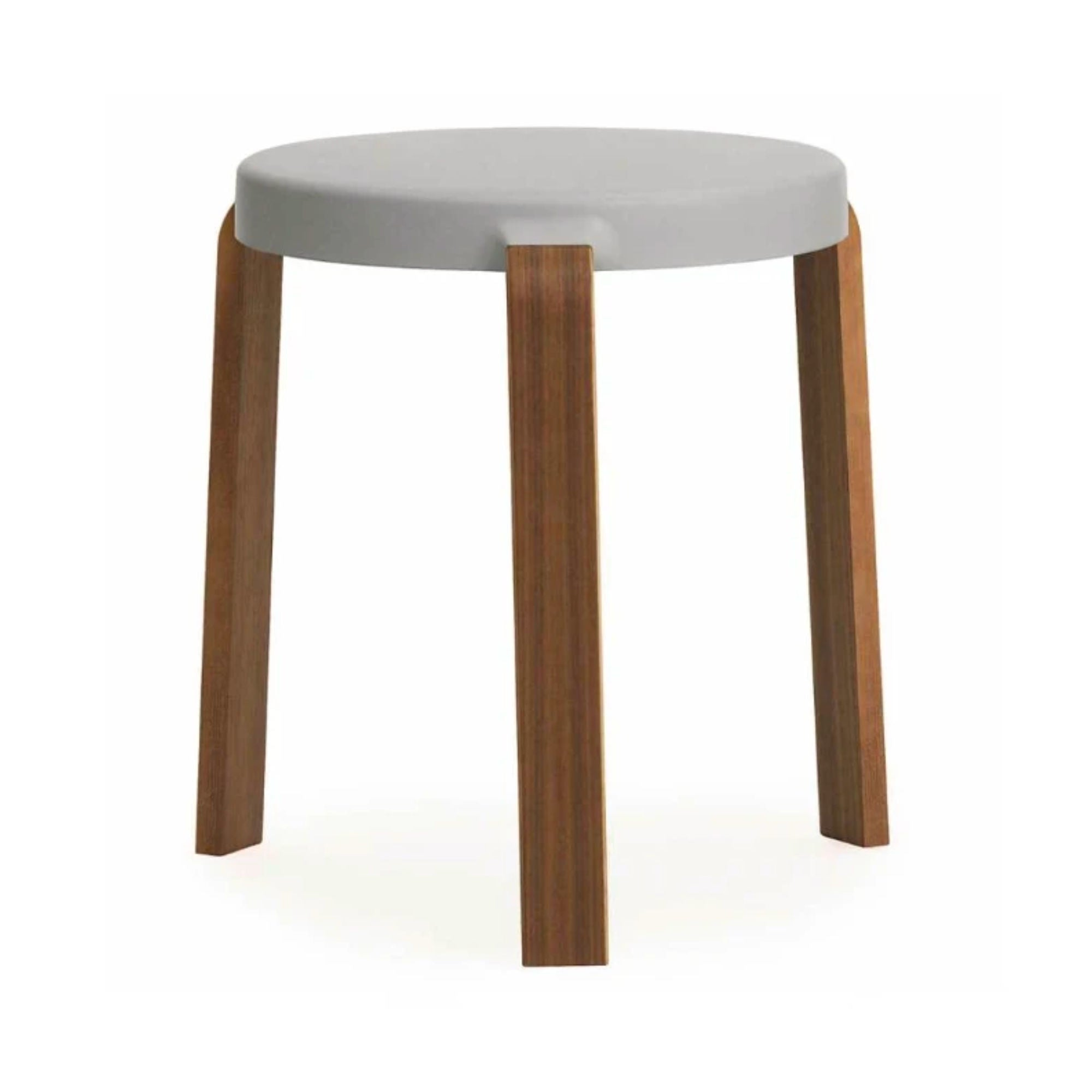 Normann Copenhagen Tap Stool , Grey - Walnut