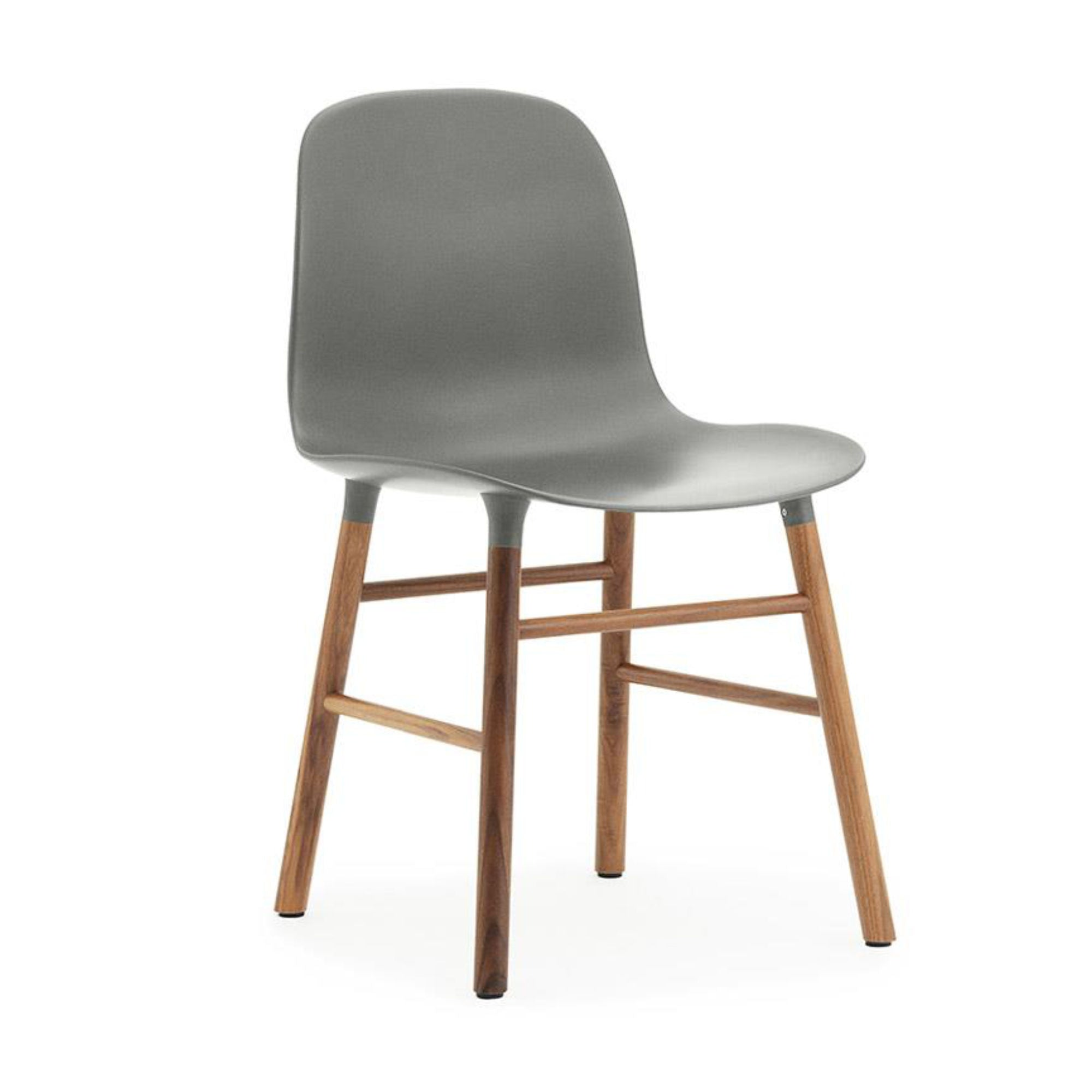 Normann Copenhagen Form Chair , Walnut/Grey