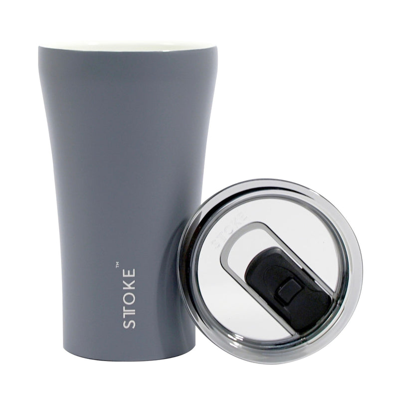 Sttoke Ceramic Reusable Cup 340ml , Grey