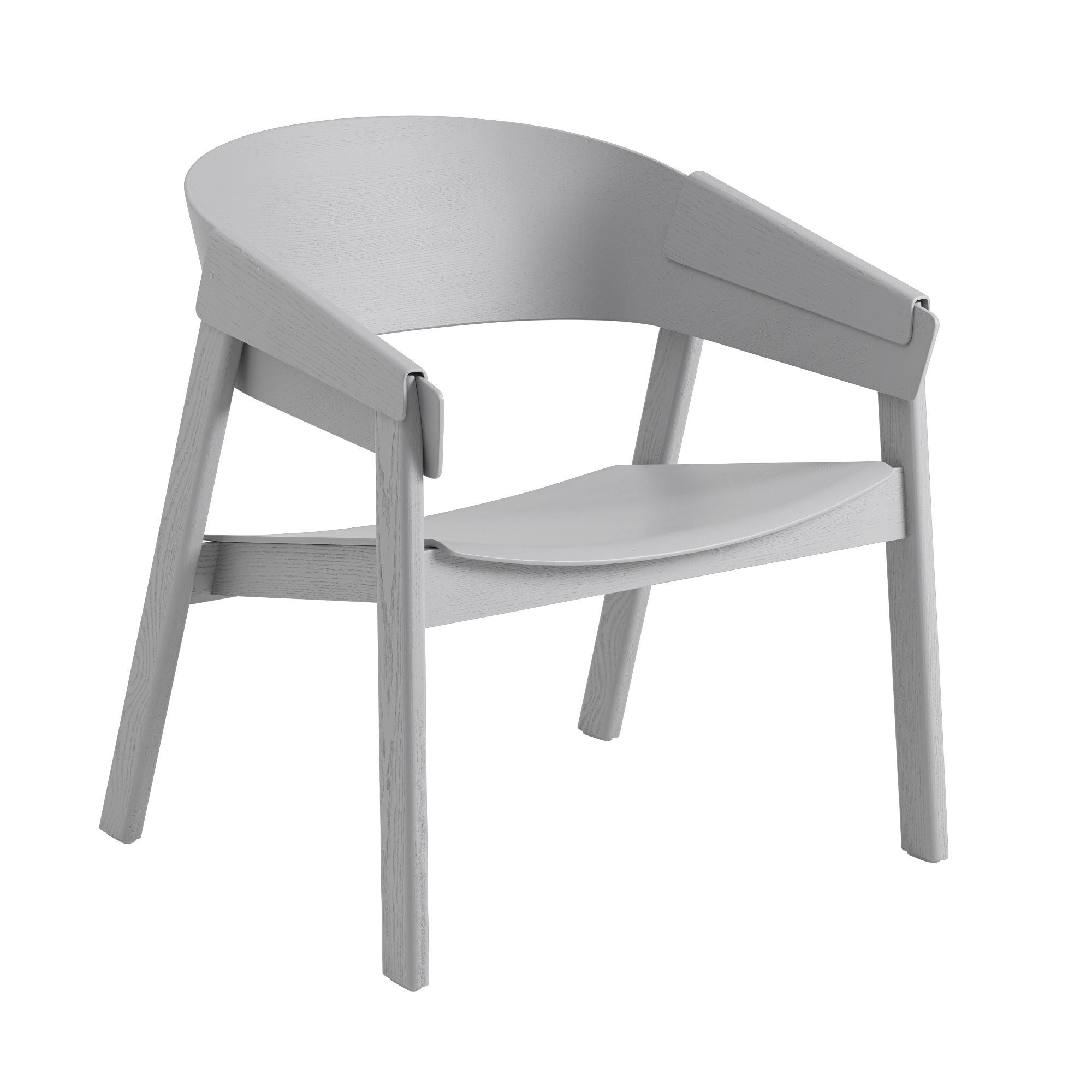 Muuto Cover lounge chair, grey/PU lacquer