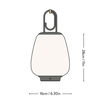 &Tradition SC51 Lucca Portable Battery LED Light , Moss Grey
