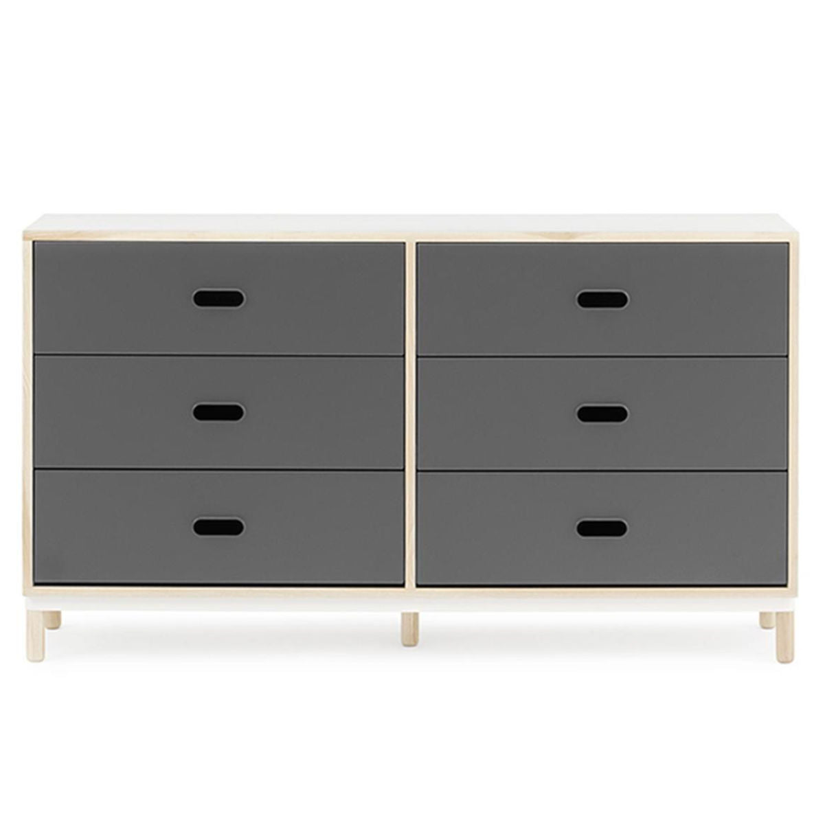 Normann Copenhagen Kabino dresser with six drawers, grey