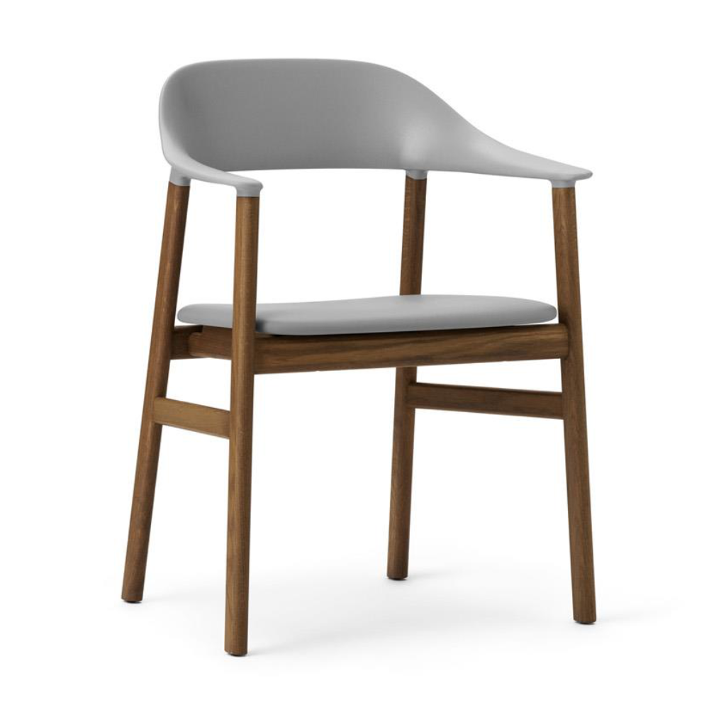Normann Copenhagen Herit Armchair Smoked Oak Frame Leather Seat