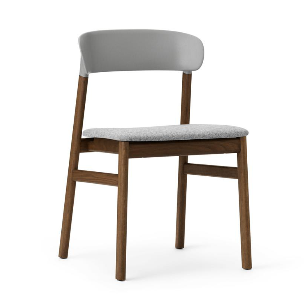 Normann Copenhagen Herit chair, smoked oak, fabric