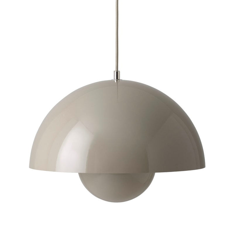 &Tradition Flowerpot pendant lamp, grey beige