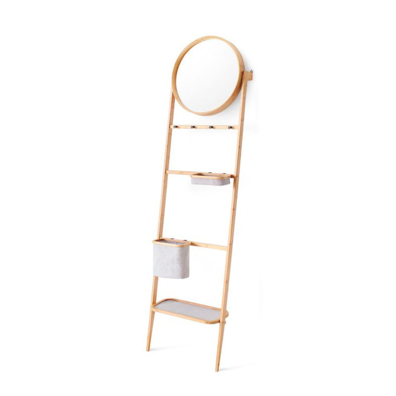 Gudee Grota leaning storage rack with mirror
