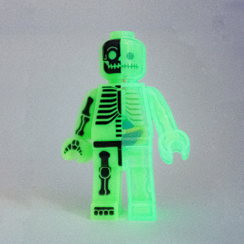 Fame Master Brick Man Anatomy Figure 10cm, small, glow in the dark