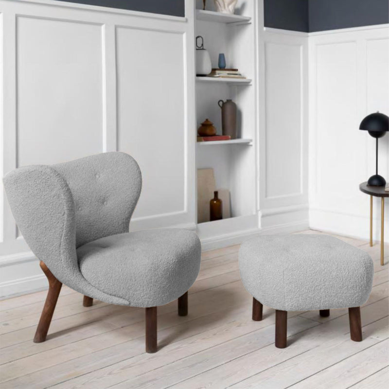 &Tradition VB1 Little Petra Lounge Chair , Hallingdal130 - Walnut