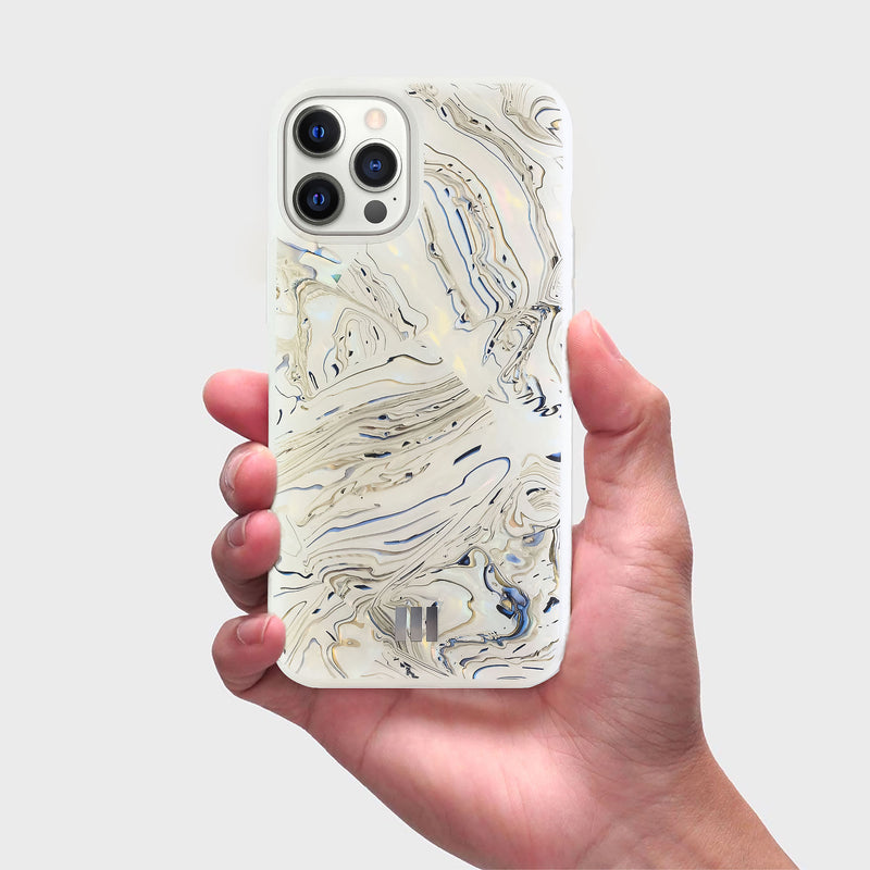 Mother Of Pearl Case for iPhone 12 Pro Max , Alchemy White
