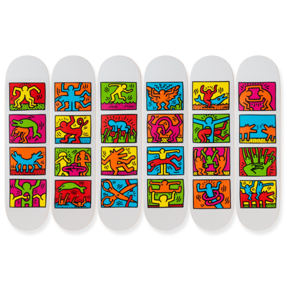 The Skateroom skateboard, Keith Haring Retrospect (1939)