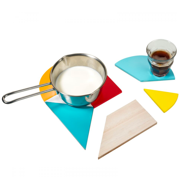 Bitten design Heart Tangram Trivet and Coaster