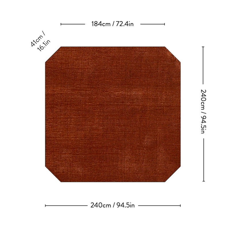 AP6 The Moor Rug 240*240, red heather