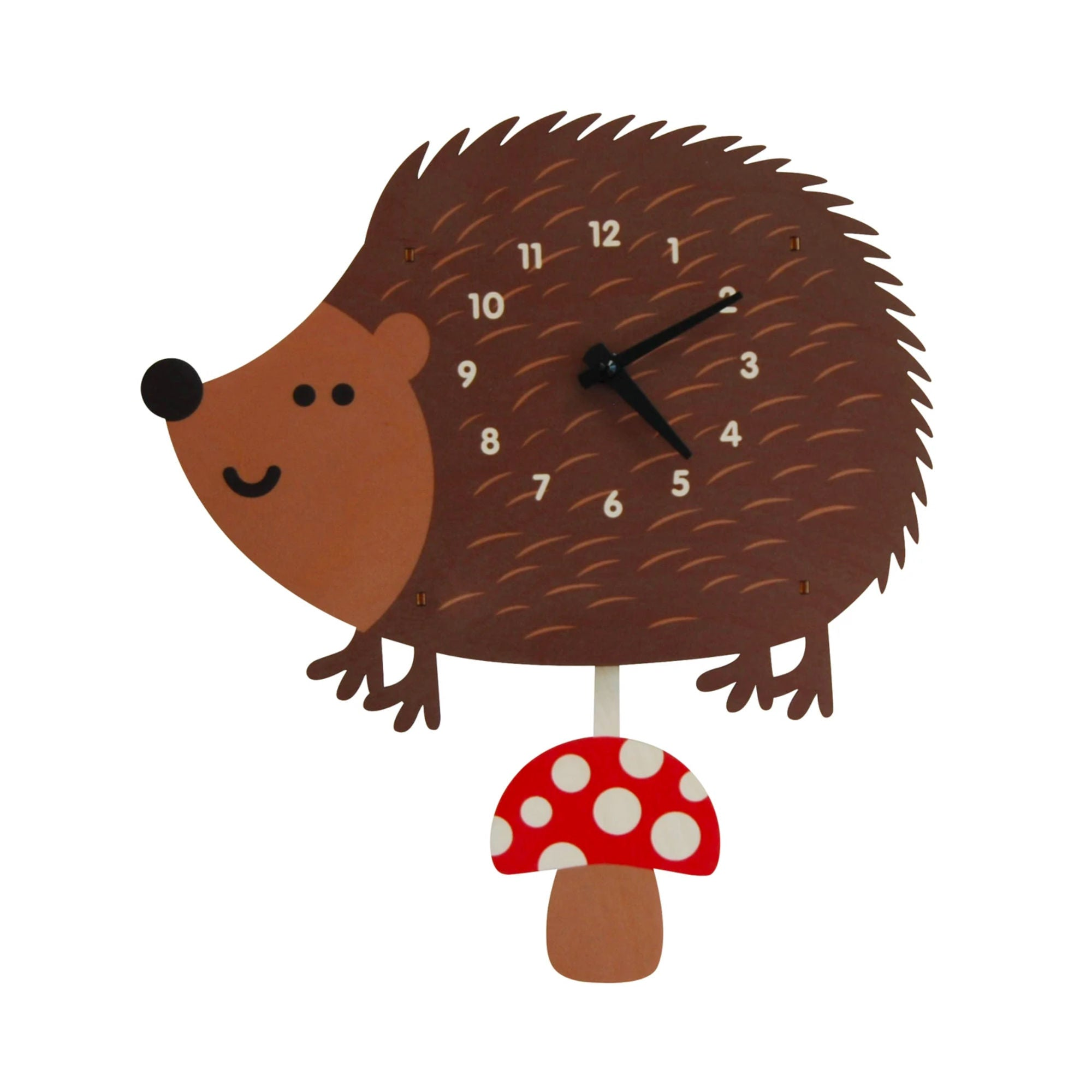 Modern Moose Pendulum Clock , Hedgehog