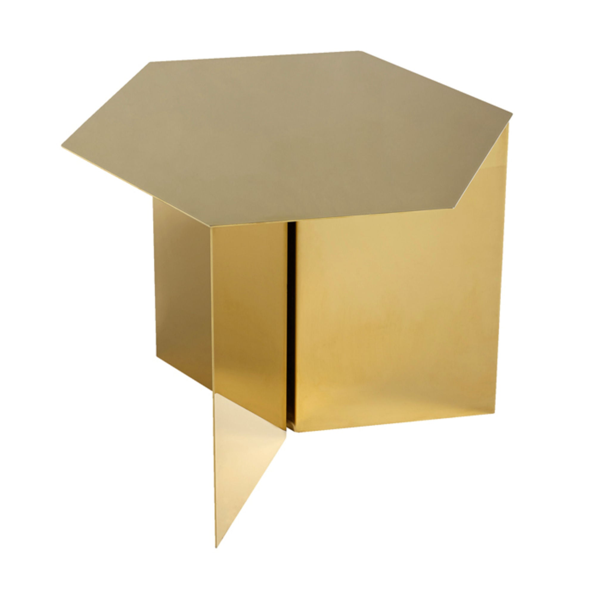 Hay Slit Coffee Table Hexagon , Brass