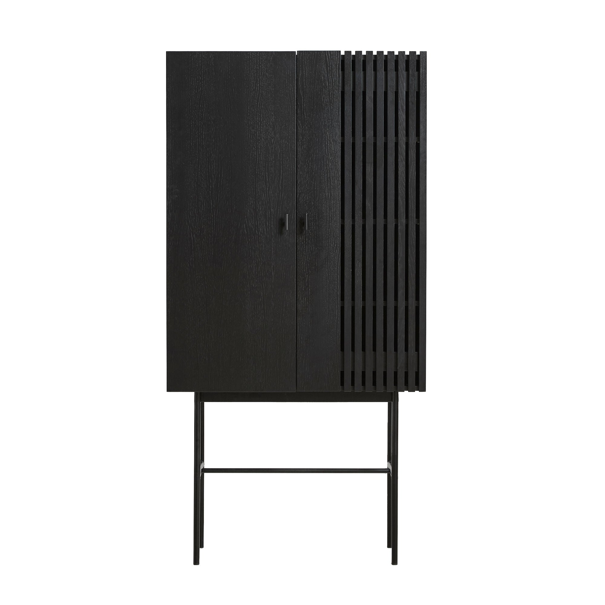 Woud Array Highboard , Black Painted Oak