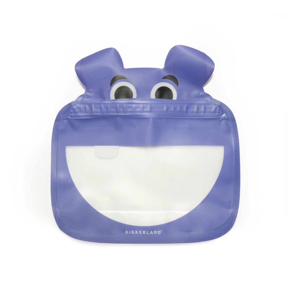 Kikkerland Animal Zipper Bag Set-of-3