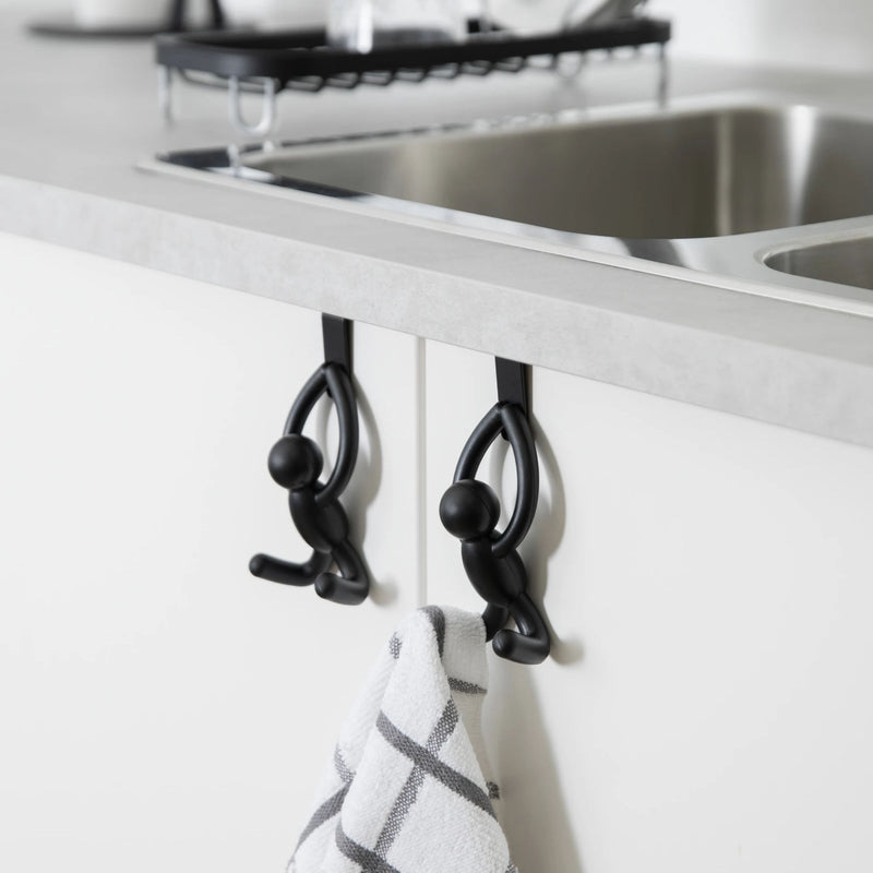 Umbra Buddy Over The Cabinet Hook Set-of-2 , Black