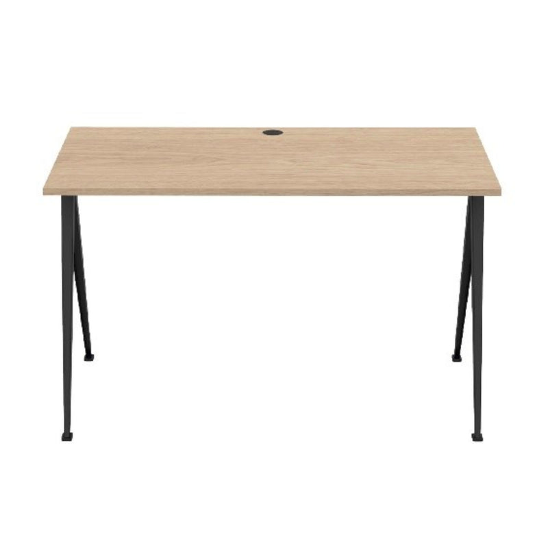 Hay Pyramid Desk 120x60 w. Cable Hole , Clear Lacquered Oak/Black