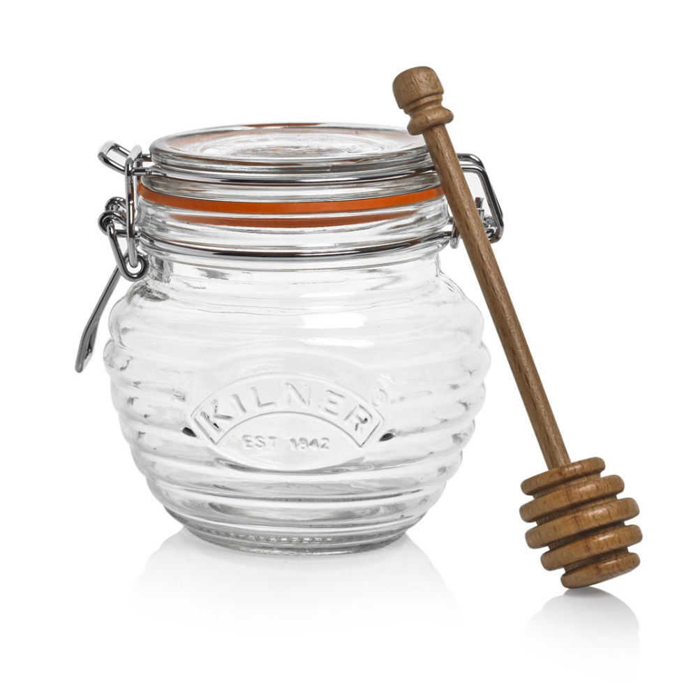 Kilner Honey Pot With Beechwood Dipper