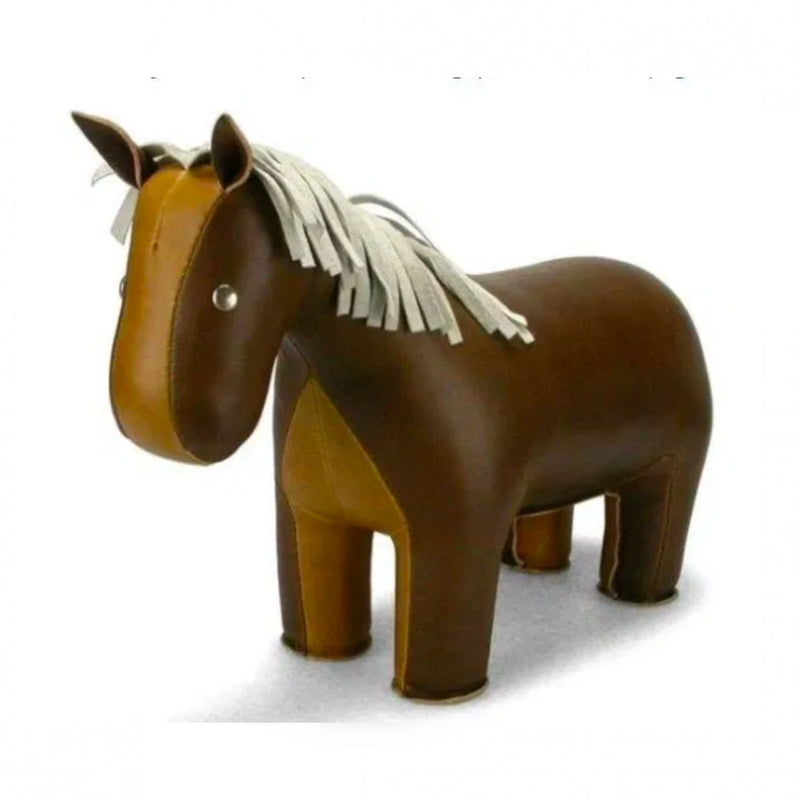 Zuny Classic Horse bookend, brown - tan