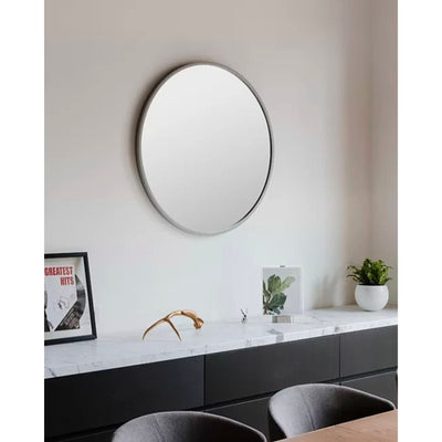 Umbra Hub Round Mirror Ø60 , Grey