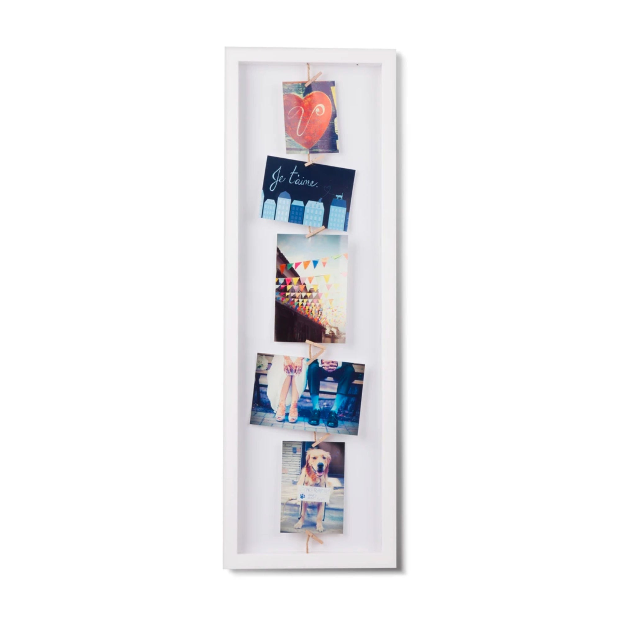 Umbra Clothesline Flip photo frame, white