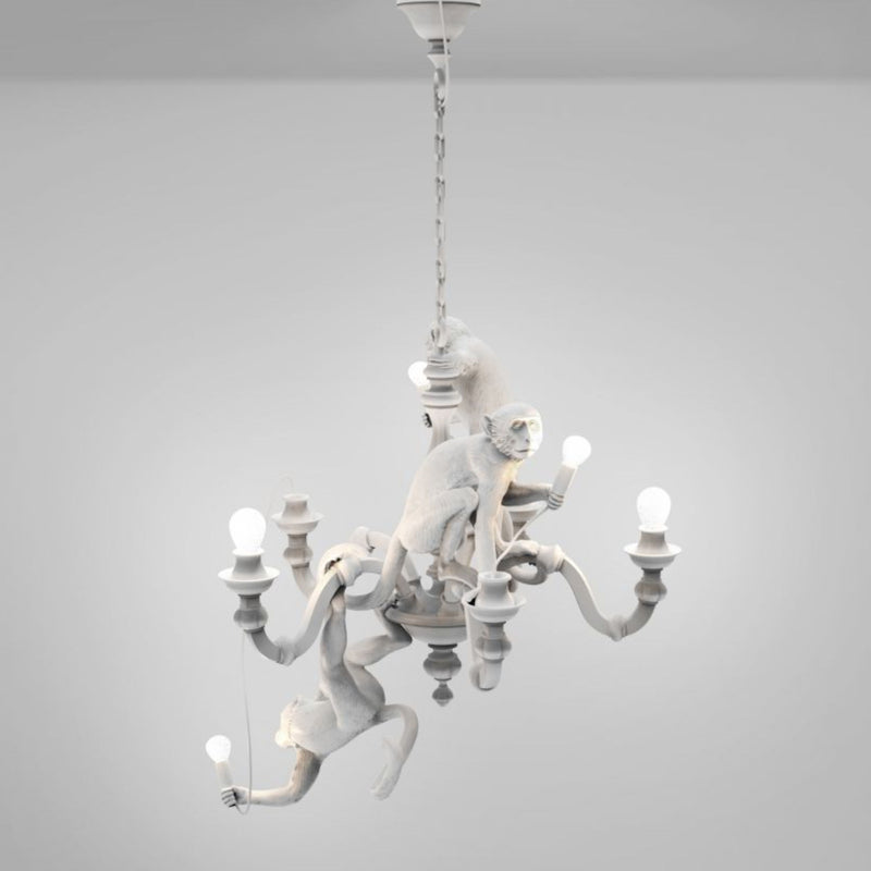 Seletti Monkey Chandelier, White