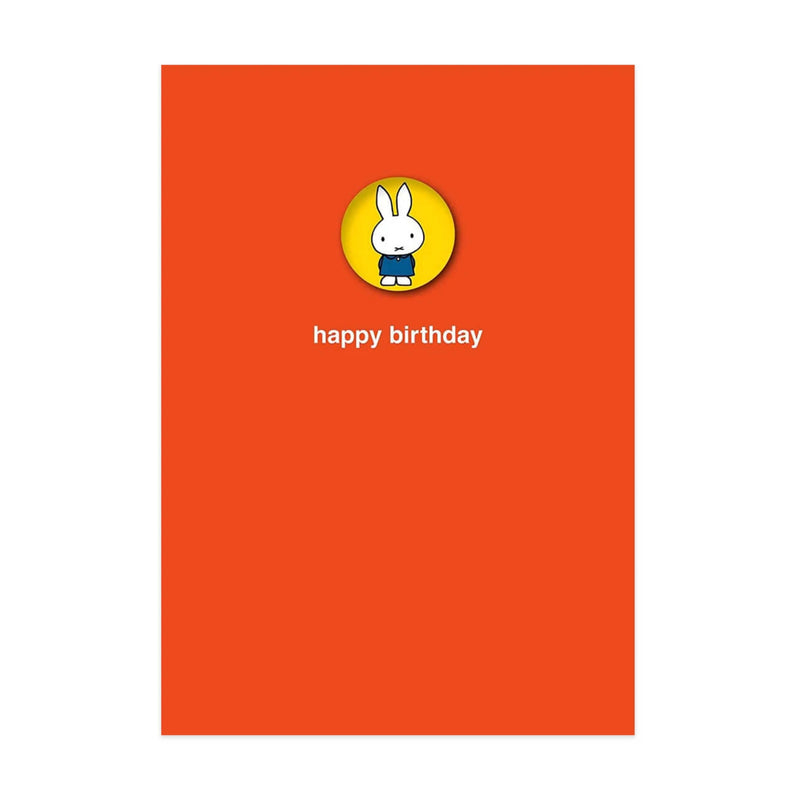 Hype Miffy message card, button badge