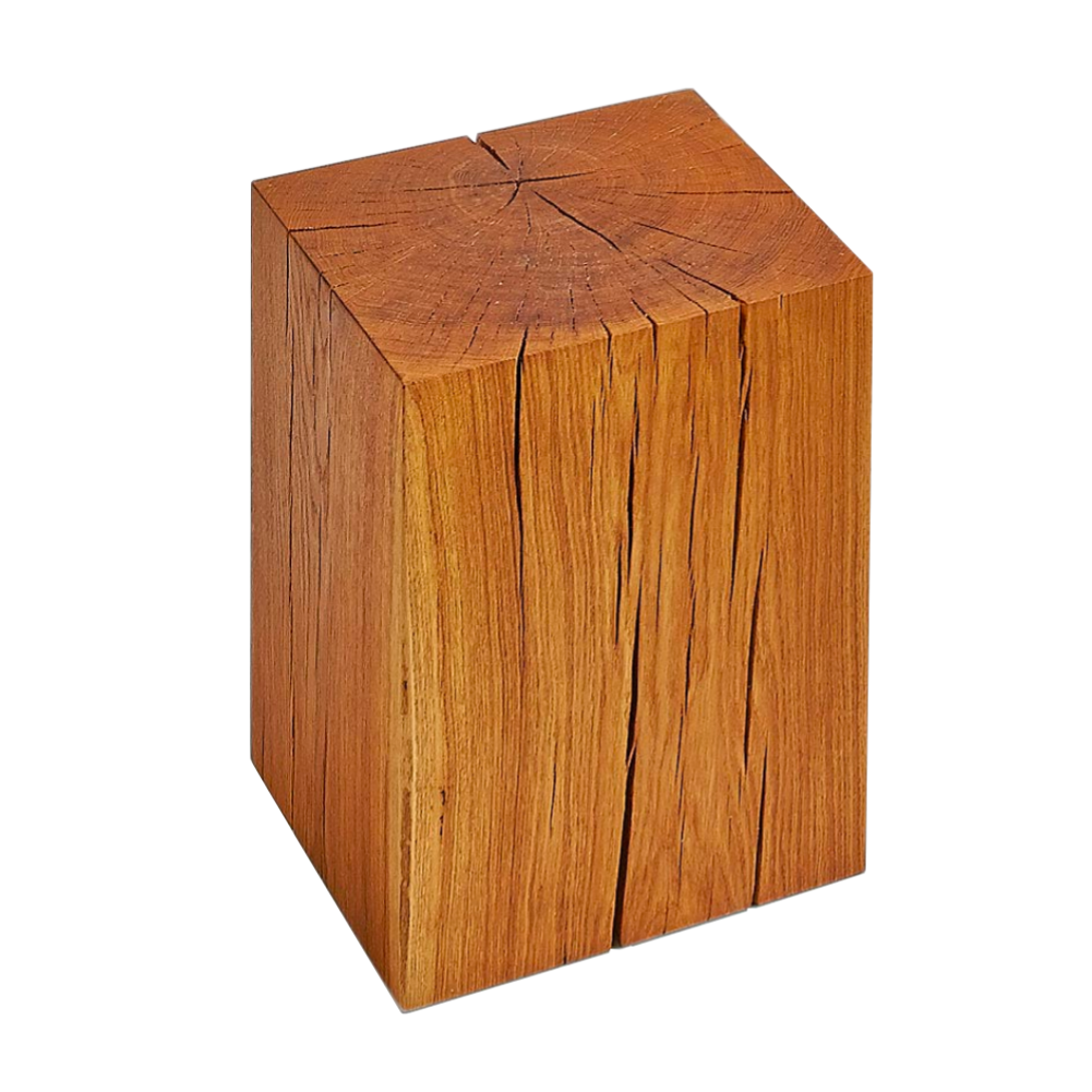 Vitamin Design Klotz Solid Oak Stool