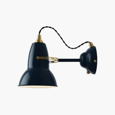 Anglepoise Original 1227 Brass Wall Light , Ink Blue