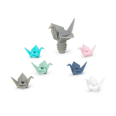 Umbra Origami Wine Charms & Topper Set