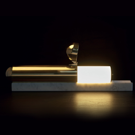 ISP Table Lamp, Marble & brass