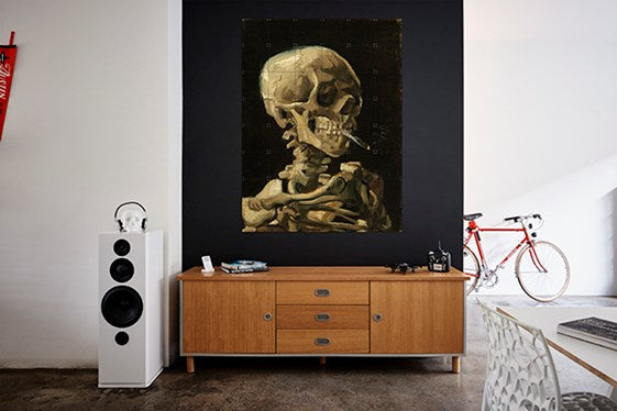 Van Gogh IXXI Head of a Skeleton with a Burning Cigarette