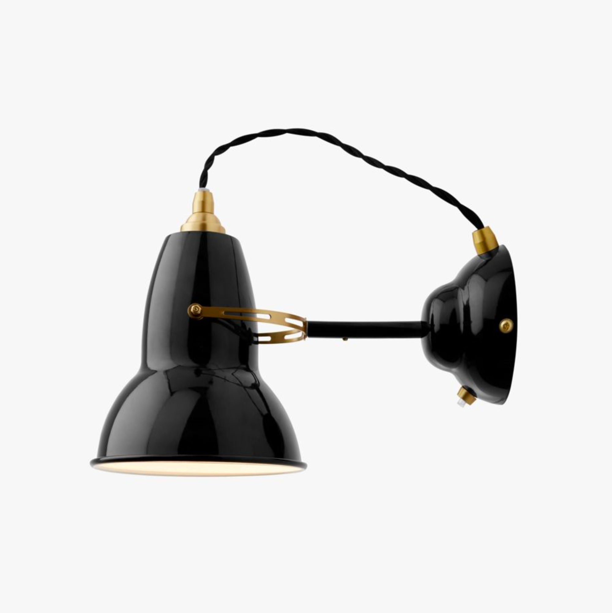 Anglepoise Original 1227 Brass Wall Light , Jet Black