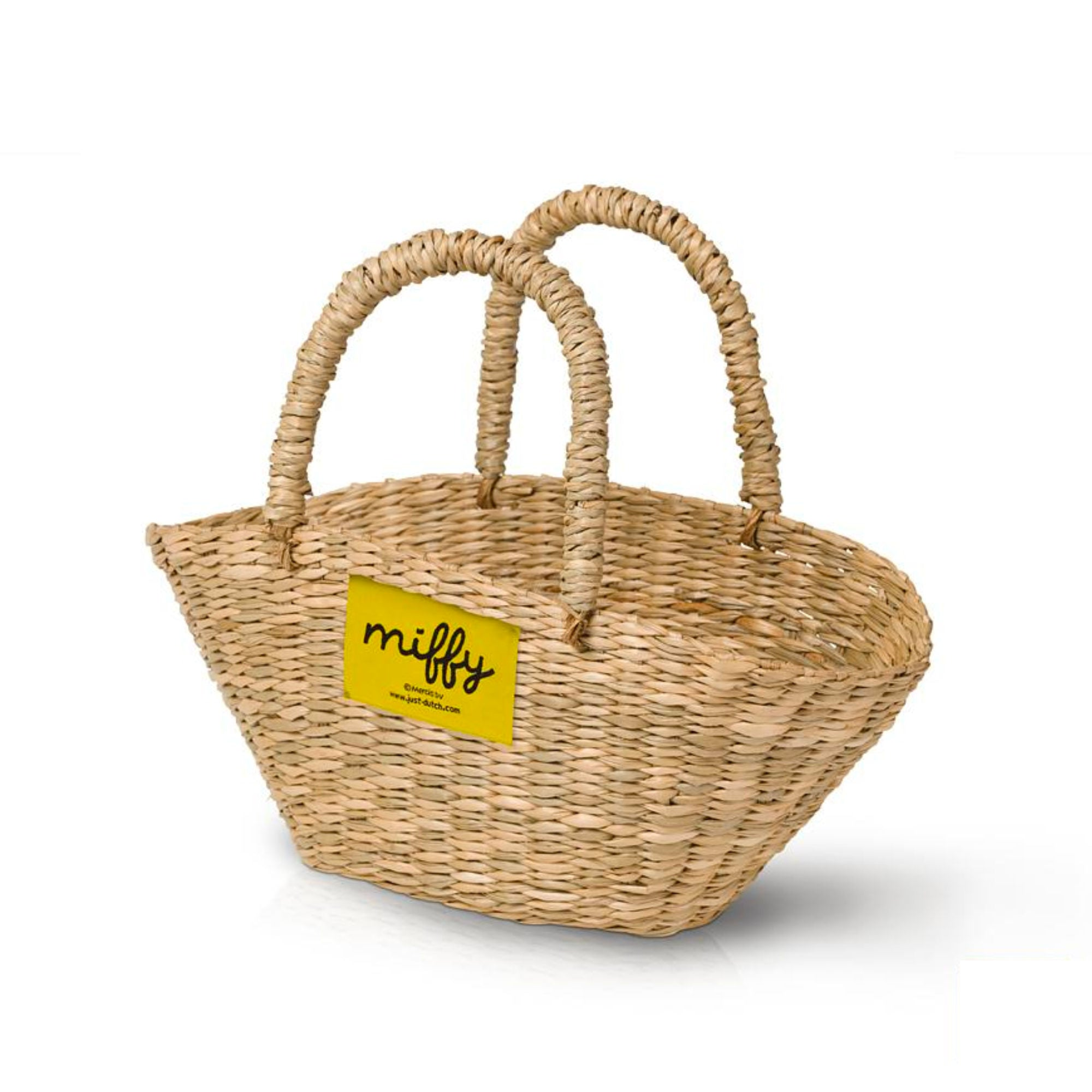 Just Dutch Handmade Natural Basket For Miffy Dolls