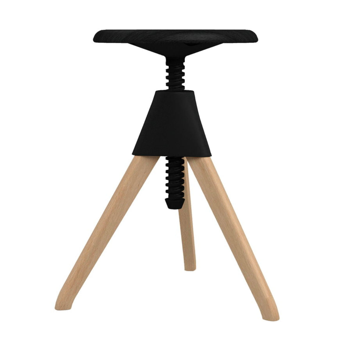 Magis Jerry stool, beech, black