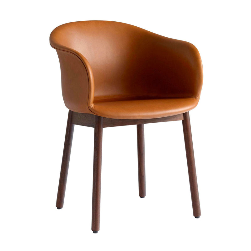 &Tradition Elefy JH31 chair, silk cognac leather, walnut base