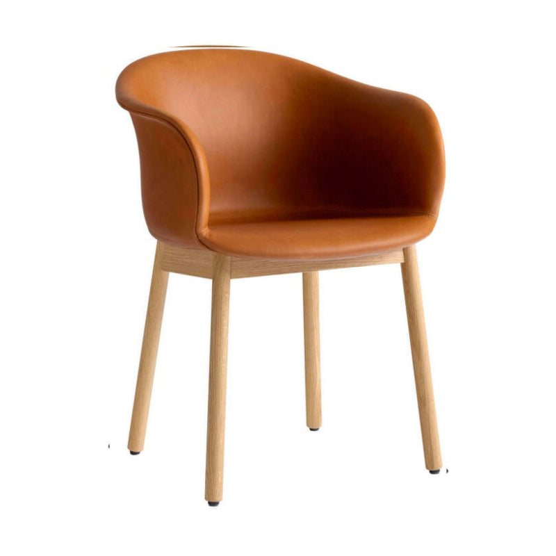 &Tradition Elefy JH31 chair, silk cognac leather, oak base
