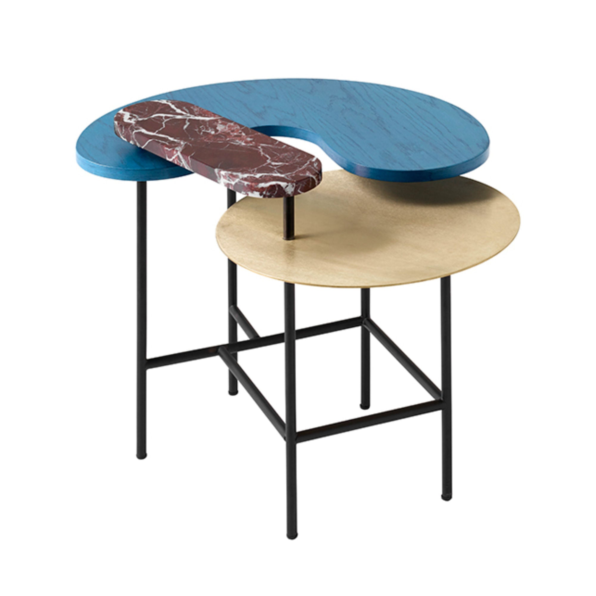 &Tradition JH8 Palette lounge table, blue