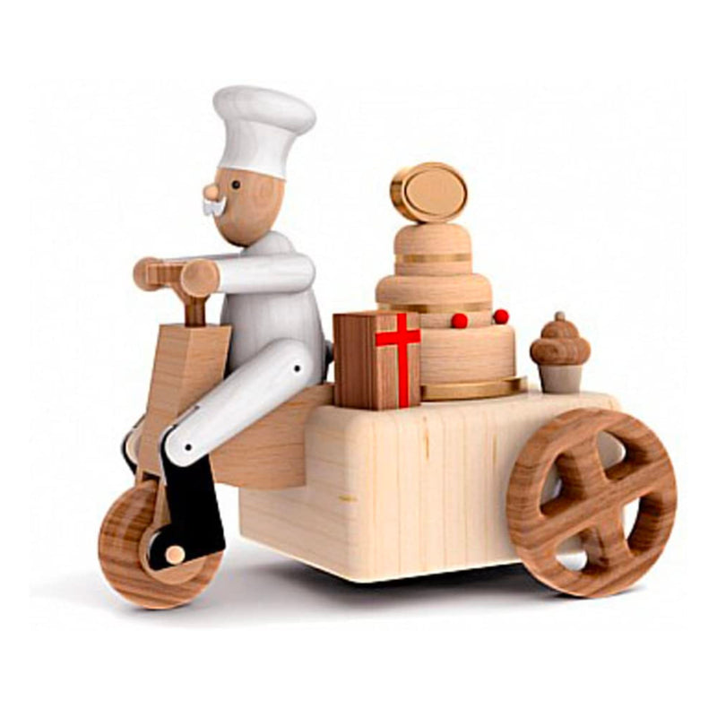 Wooderful Life wooden music box, chef birthday