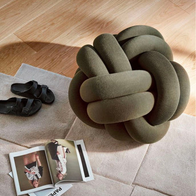 Design House Stockholm Knot XL Seat Cushion , Green