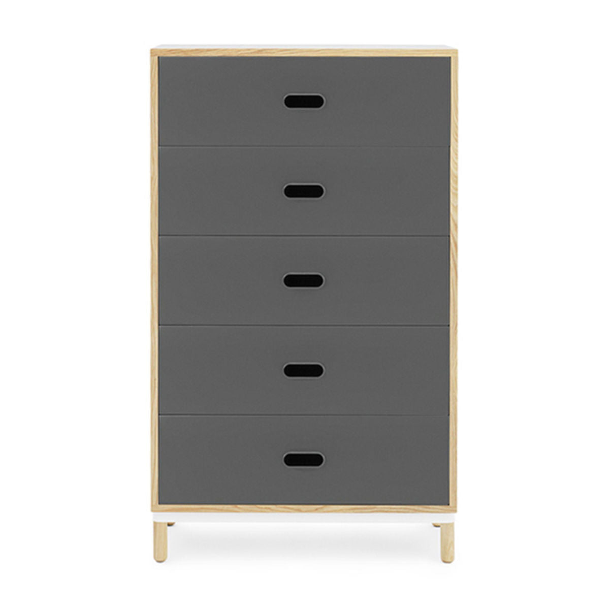 Normann Copenhagen Kabino dresser with five drawers, grey