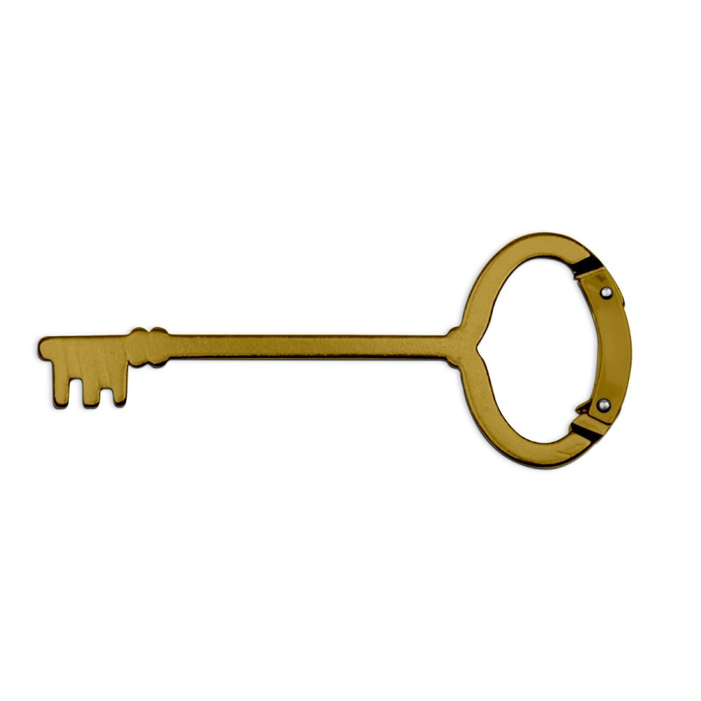 Kikkerland Antique Key Carabiner Key Ring 2-Set