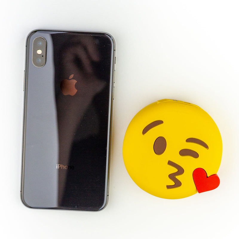 Moji Emoji power bank 2600mAh, kiss wink