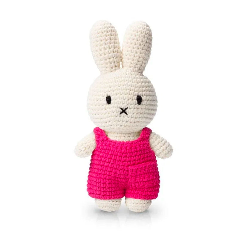 Just Dutch handmade doll, Miffy and her pink overall