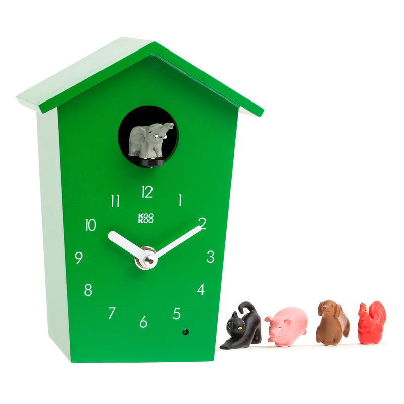 Kookoo Animals House clock, green