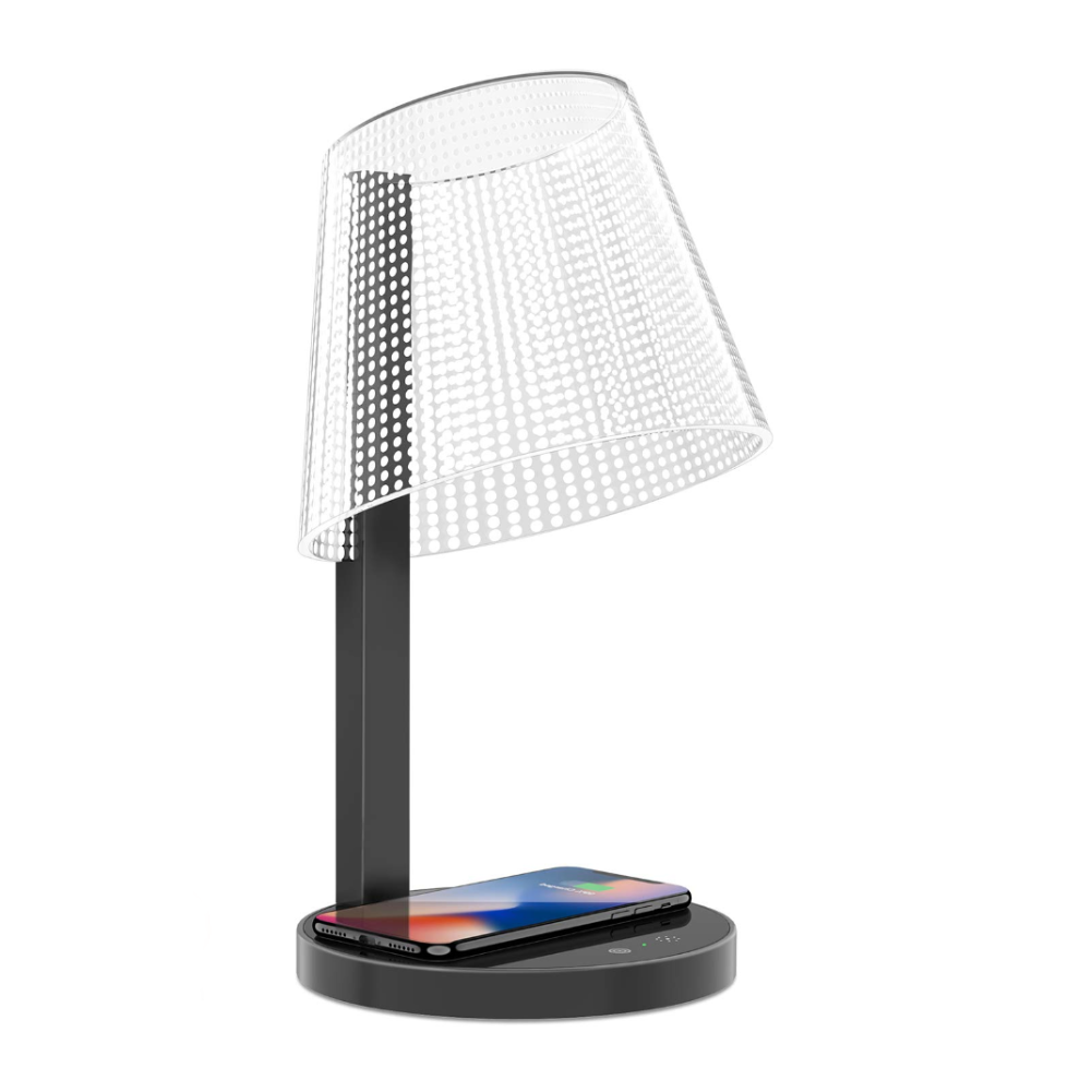 Above Lights Kong Qi wireless charging lamp, black dot