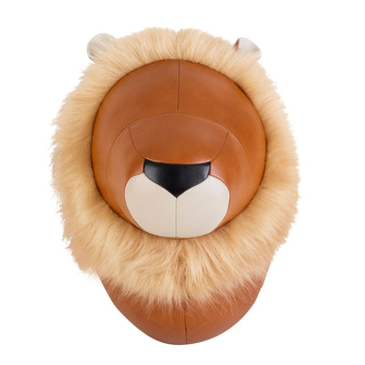 Zuny Large Wall Trophies Lion Amo, Tan/Wheat
