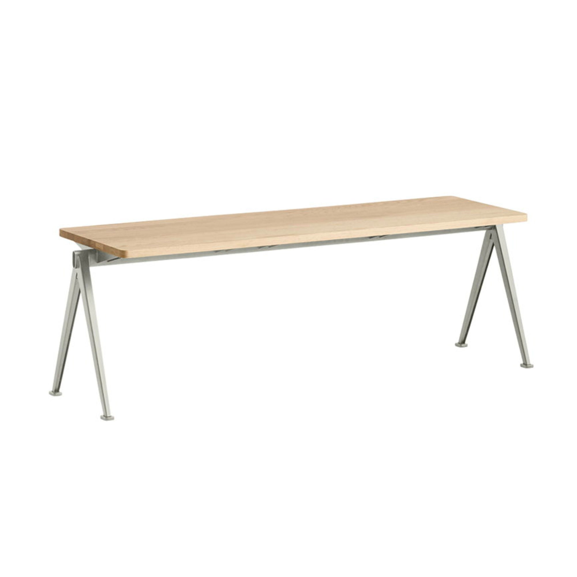 Hay Pyramid Bench 11 L140 , Matt Lacquered Solid Oak - Beige Frame