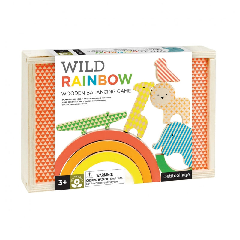 Wild and Wolf Rainbow Animals Wooden Balancing Game